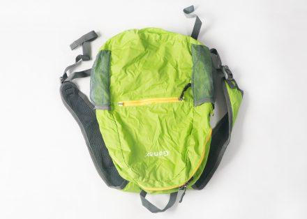 Der faltbare Rucksack in ganzer Größe