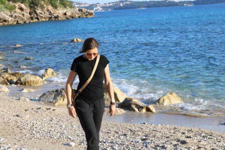 Erster Strandspaziergang in der Bucht von Mlini.