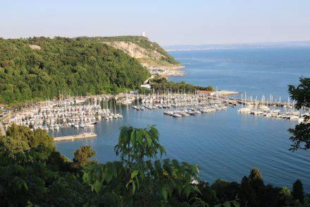 Die Bucht von Sistiana bei Triest im schönen Istrien.