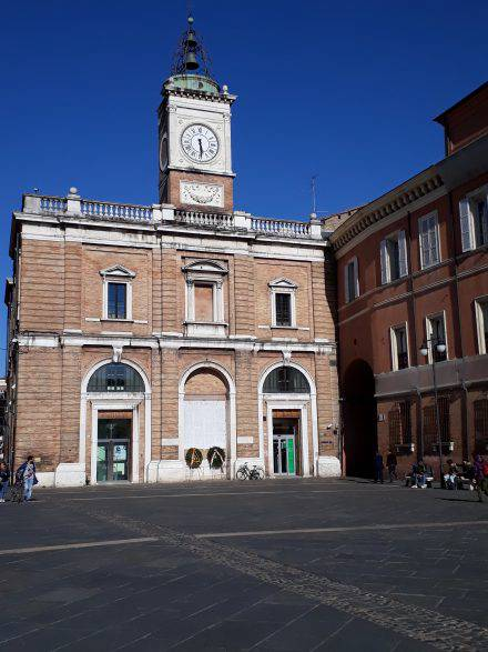 Das Zentrum von Ravenna - die Piazza del popolo