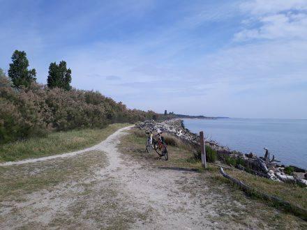 Direkt an der Küste entlang von Porto Garibaldi nach Lido di Volano