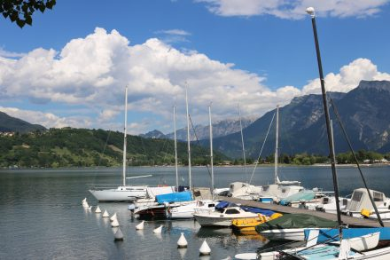 Am Westufer des Lago di Caldonazzo in Südtirol