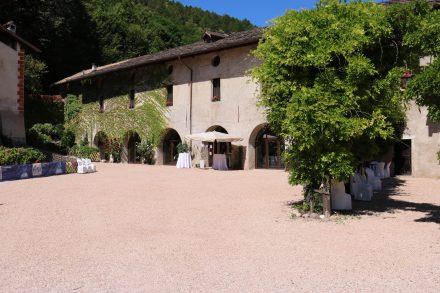Der wunderschöne Innenhof des Castel Trapp wird gerne für Veranstaltungen genutzt.