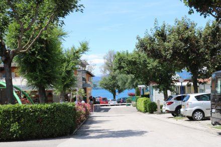 Blick auf den Lago di Caldonazzo vom Camping Punta Lago.