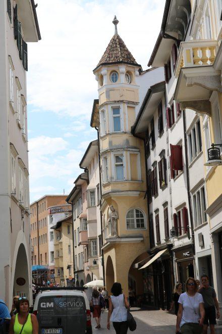 Die historische Altstadt in Bozen.
