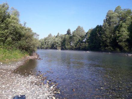Klar und in weichen Kurven fließt die Gail von Kötschach-Mauthen bis Villach.
