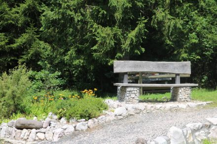 Ein Platz der Ruhe am Gailtal Radweg.