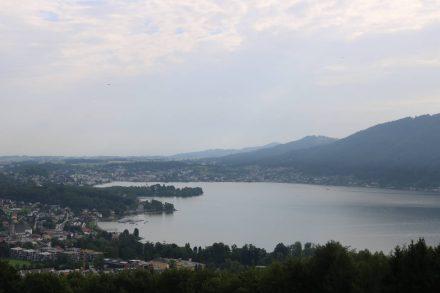 Blick vom Grasberg auf Altmünster.