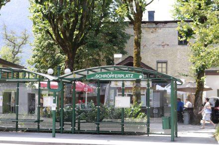 Der Schröpferplatz im Kurort Bad Ischl.