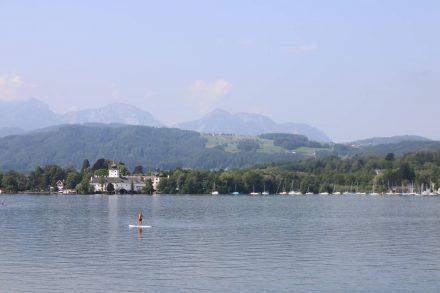 Blick auf den Traunsee von Gmunden aus.