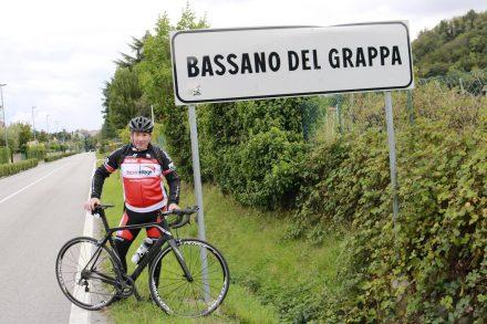 Nach rund 80 km in 3,5 Stunden mit Gino und dem Renn-Fury in Bassano angekommen.