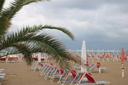 Der Strand von Riccione.