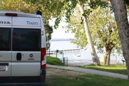 Auch in zweiter Reihe hatte der Doc einen tollen Ausblick auf den Gardasee.
