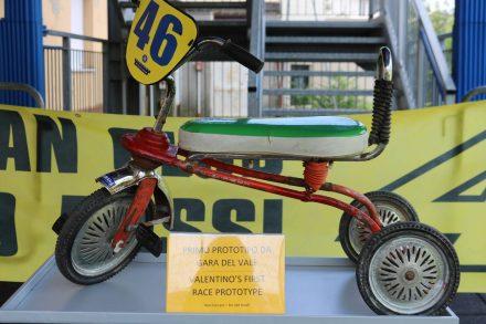 Valentinos erstes Renn-Werkzeug.