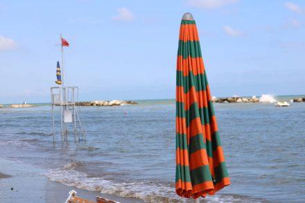 Meerblick am Strand von Cattolica.