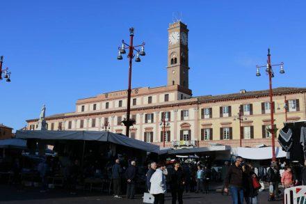 Das Rathaus von Forli in der Emilia Romagna.