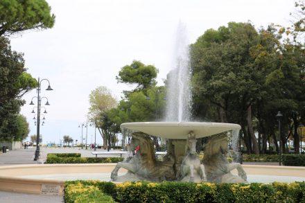 Blick auf den Hafen in Rimini Marina.