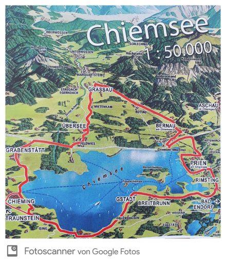 Der Chiemsee Radrundweg im Überblick.