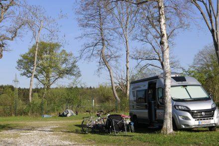 Der Ducato am Camping Limbach, direkt am Chiemsee.