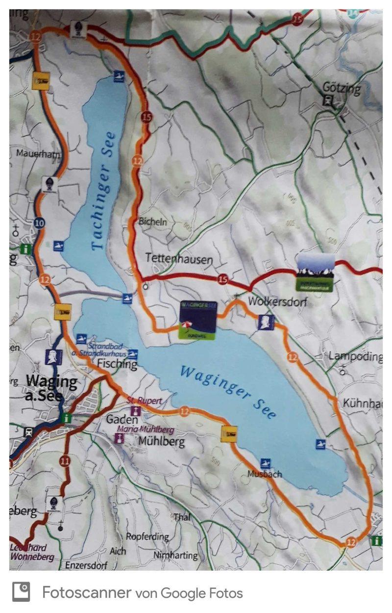 Rund 28 km ist die Tour um den Waginger See.