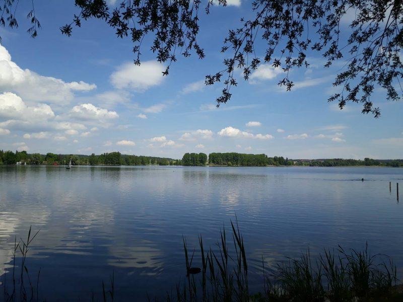 Toller Ausblick auf den Waginger See vom Westufer aus.