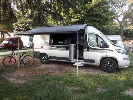 Auf dem kleinen und familiären Camping Bergamini in Peschiera.