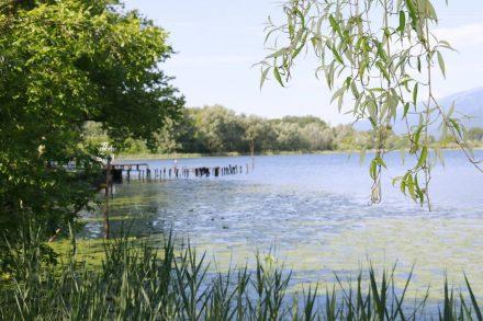 Schöne Aussichten vom Campingplatz auf den Lago di Lago.