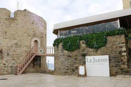 Top Restaurant am Spitz von St. Tropez.