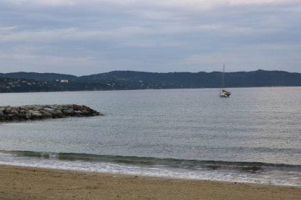 Abendliche Meerstimmung in Cavalaire sur mer.