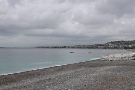Weder Himmel noch Meer machten dem Namen der Cote d'Azur bei unserem Besuch Ehre.