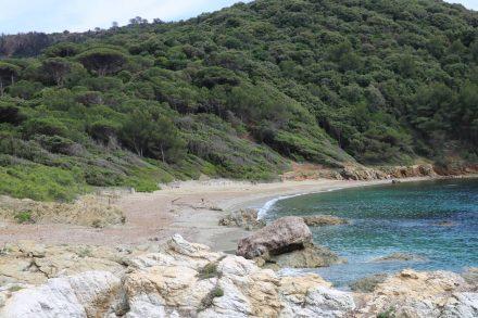Auf unserer Küstenwanderung erreichen wir einsame, wunderschöne Strandbuchten.