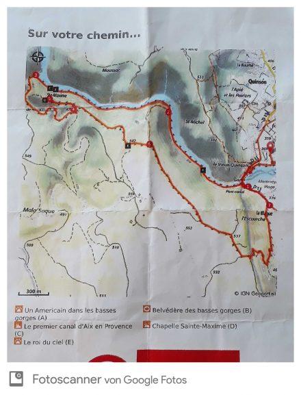Der Rundwanderweg durchs Hinterland und entlang des Basses Gorges.