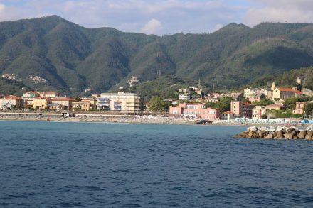 Nach rund 1,5 Stunden Schifffahrt kommen wir zurück nach Levanto.