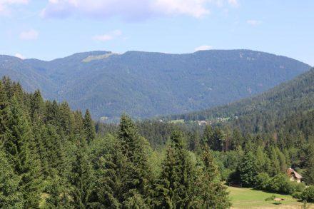 Blick nach Norden auf die Karnischen Bergketten.