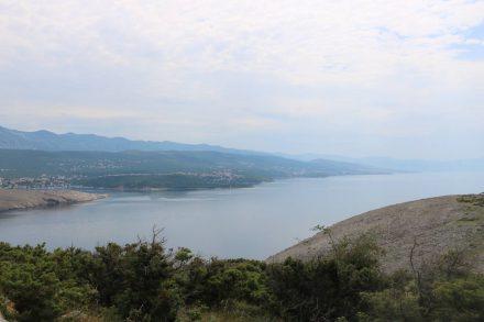 Blick nach Süden von der nördlichen Inselspitze aus.
