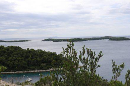 Erster Blick auf die Hvarer Inseln.