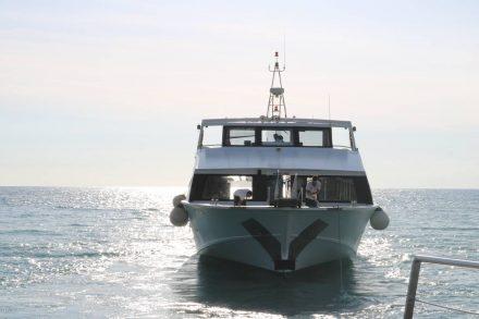 Unser Schiff mit dem schneidigen Kapitän lässt uns in Levanto zurück.