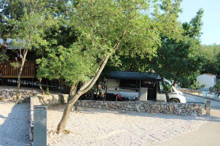 Unser Stellplatz am Camp Slamni in Klimno.