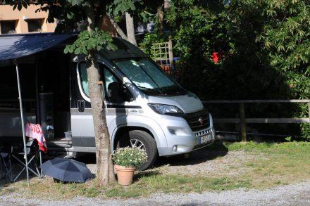 Der Ducato am Campingplatz Aqua Dolce in Levanto.