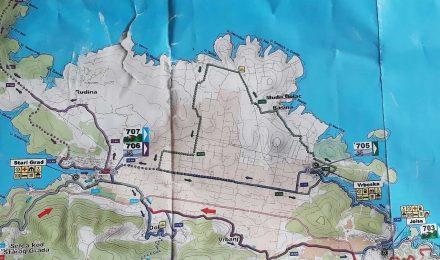 Die Tourvarianten von Jelsa nach Stari Grad.