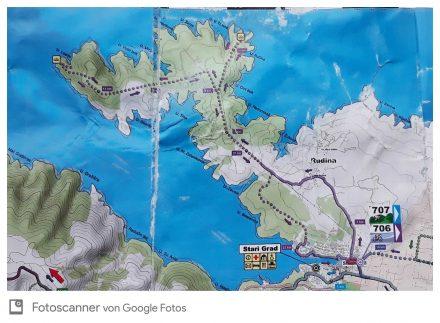Die Tour führt von Stari Grad bis zum Inselspitz und zurück.