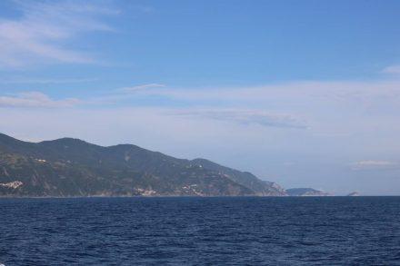 Das letzte Stück von Monterosso nach Levanto geht über das offene Meer.