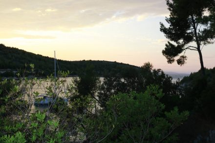 Wunderbare Abendstimmung am Camping Vira.
