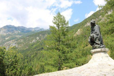 Das Denkmal des Mit-Entdeckers der Julischen Alpen.
