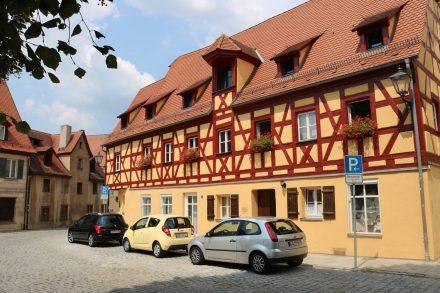 Die für Franken typischen Fachwerkhäuser in Hersbruck.