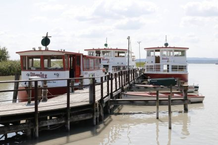 Der Fährhafen in Illmitz.