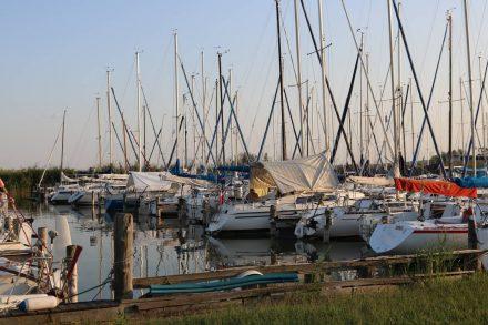 Der Segelhafen von Rust.