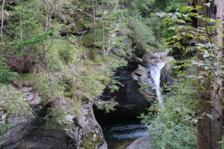 Der obere Fallertumpf mit einem Höhlenbecken.