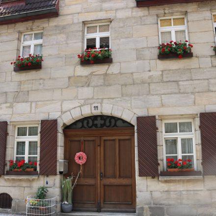 Die Sandsteinhäuser sind typisch für Nürnberg und das Umland.