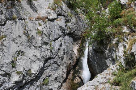 Hier entspringt sie, die Soca - mitten im Nationalpark Triglav.
